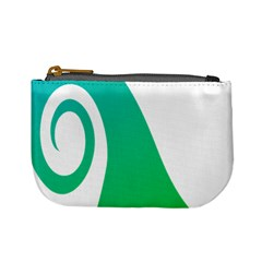 Line Green Wave Mini Coin Purses