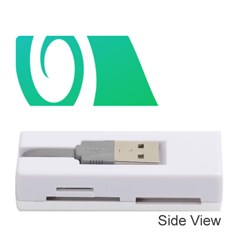 Line Green Wave Memory Card Reader (stick)  by Alisyart