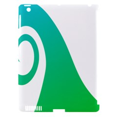Line Green Wave Apple Ipad 3/4 Hardshell Case (compatible With Smart Cover) by Alisyart