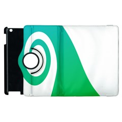 Line Green Wave Apple Ipad 3/4 Flip 360 Case by Alisyart