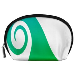 Line Green Wave Accessory Pouches (large)  by Alisyart