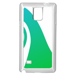 Line Green Wave Samsung Galaxy Note 4 Case (white) by Alisyart