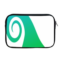 Line Green Wave Apple Macbook Pro 17  Zipper Case by Alisyart