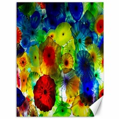 Green Jellyfish Yellow Pink Red Blue Rainbow Sea Canvas 36  X 48   by Alisyart