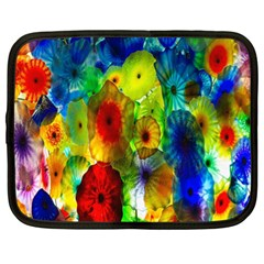 Green Jellyfish Yellow Pink Red Blue Rainbow Sea Netbook Case (xl)
