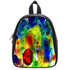 Green Jellyfish Yellow Pink Red Blue Rainbow Sea School Bags (small)
