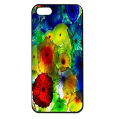 Green Jellyfish Yellow Pink Red Blue Rainbow Sea Apple Iphone 5 Seamless Case (black)