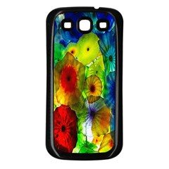 Green Jellyfish Yellow Pink Red Blue Rainbow Sea Samsung Galaxy S3 Back Case (black) by Alisyart