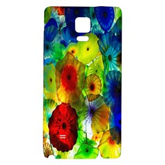Green Jellyfish Yellow Pink Red Blue Rainbow Sea Galaxy Note 4 Back Case
