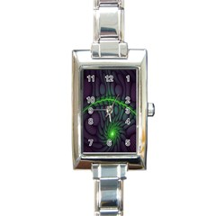 Light Cells Colorful Space Greeen Rectangle Italian Charm Watch
