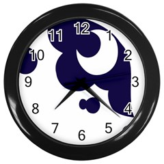 Month Blue Wall Clocks (black)