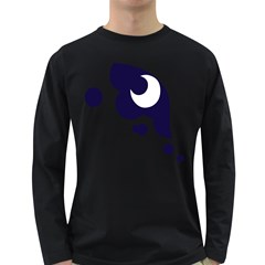 Month Blue Long Sleeve Dark T Shirts
