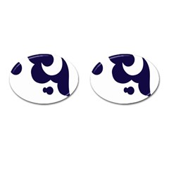 Month Blue Cufflinks (oval)
