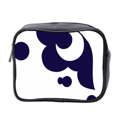 Month Blue Mini Toiletries Bag 2 Side
