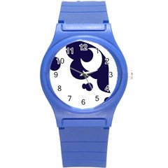 Month Blue Round Plastic Sport Watch (s) by Alisyart