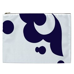 Month Blue Cosmetic Bag (xxl)