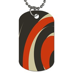 Mixing Gray Orange Circles Dog Tag (two Sides) by Alisyart