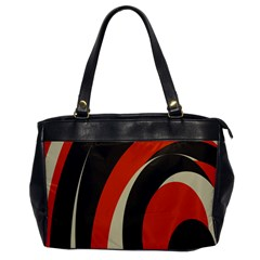 Mixing Gray Orange Circles Office Handbags