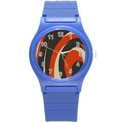 Mixing Gray Orange Circles Round Plastic Sport Watch (s) by Alisyart