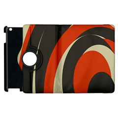 Mixing Gray Orange Circles Apple Ipad 3/4 Flip 360 Case by Alisyart