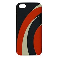 Mixing Gray Orange Circles Apple Iphone 5 Premium Hardshell Case