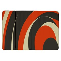 Mixing Gray Orange Circles Samsung Galaxy Tab 8 9  P7300 Flip Case by Alisyart