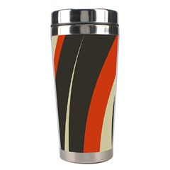 Mixing Gray Orange Circles Stainless Steel Travel Tumblers by Alisyart