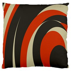 Mixing Gray Orange Circles Standard Flano Cushion Case (two Sides) by Alisyart