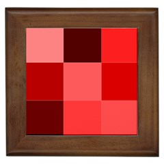 Red Flag Plaid Framed Tiles