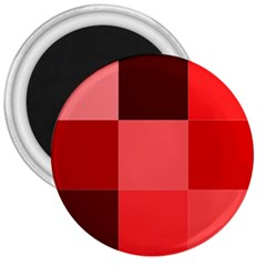 Red Flag Plaid 3  Magnets