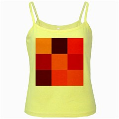 Red Flag Plaid Yellow Spaghetti Tank