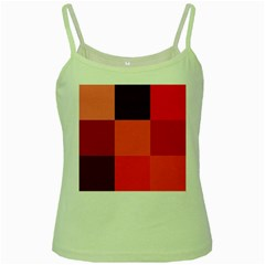 Red Flag Plaid Green Spaghetti Tank