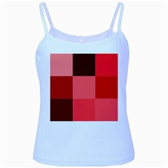 Red Flag Plaid Baby Blue Spaghetti Tank