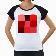Red Flag Plaid Women s Cap Sleeve T