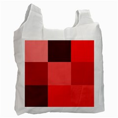 Red Flag Plaid Recycle Bag (one Side) by Alisyart