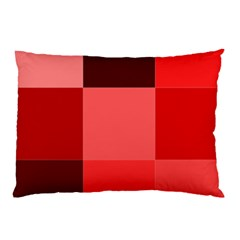 Red Flag Plaid Pillow Case (two Sides)