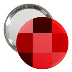 Red Flag Plaid 3  Handbag Mirrors by Alisyart