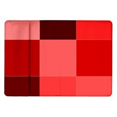 Red Flag Plaid Samsung Galaxy Tab 10 1  P7500 Flip Case