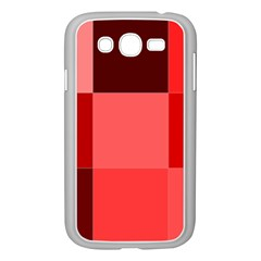 Red Flag Plaid Samsung Galaxy Grand Duos I9082 Case (white)