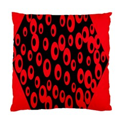 Scatter Shapes Large Circle Black Red Plaid Triangle Standard Cushion Case (one Side)