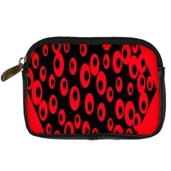 Scatter Shapes Large Circle Black Red Plaid Triangle Digital Camera Cases by Alisyart