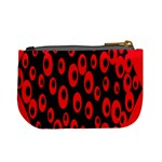 Scatter Shapes Large Circle Black Red Plaid Triangle Mini Coin Purses Back