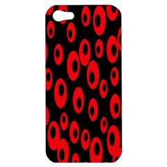 Scatter Shapes Large Circle Black Red Plaid Triangle Apple Iphone 5 Hardshell Case