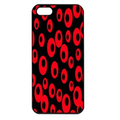 Scatter Shapes Large Circle Black Red Plaid Triangle Apple Iphone 5 Seamless Case (black)