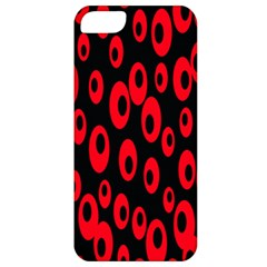 Scatter Shapes Large Circle Black Red Plaid Triangle Apple Iphone 5 Classic Hardshell Case by Alisyart