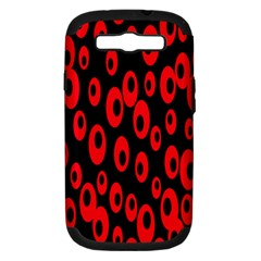 Scatter Shapes Large Circle Black Red Plaid Triangle Samsung Galaxy S Iii Hardshell Case (pc+silicone) by Alisyart