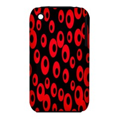 Scatter Shapes Large Circle Black Red Plaid Triangle Iphone 3s/3gs by Alisyart