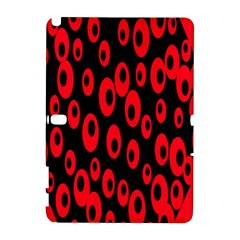 Scatter Shapes Large Circle Black Red Plaid Triangle Galaxy Note 1 by Alisyart