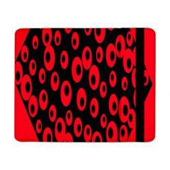 Scatter Shapes Large Circle Black Red Plaid Triangle Samsung Galaxy Tab Pro 8 4  Flip Case by Alisyart
