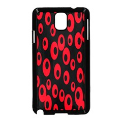 Scatter Shapes Large Circle Black Red Plaid Triangle Samsung Galaxy Note 3 Neo Hardshell Case (black) by Alisyart